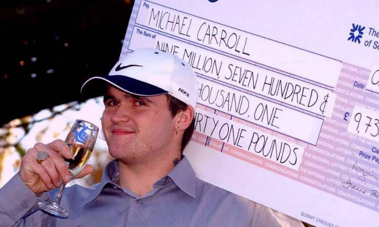 9 лотерейных неудач. Майкл Кэррол