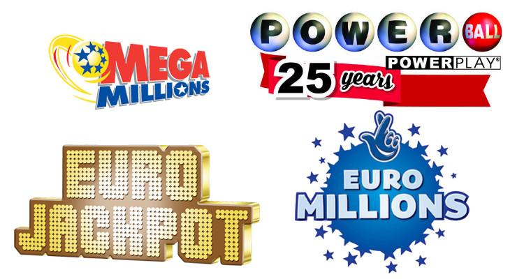 Логотипы зарубежных лотерей