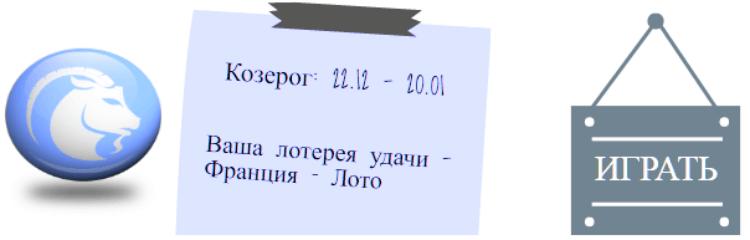 Лотерейный гороскоп. Козерог (с 22 декабря по 20 января)