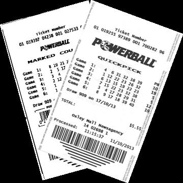 Билет лотереи Powerball Lotto