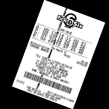 Билет лотереи Pick 6 XTRA