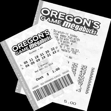 Билет лотереи Megabucks