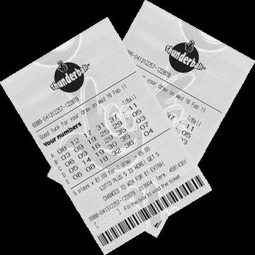 Билет лотереи Thunderball