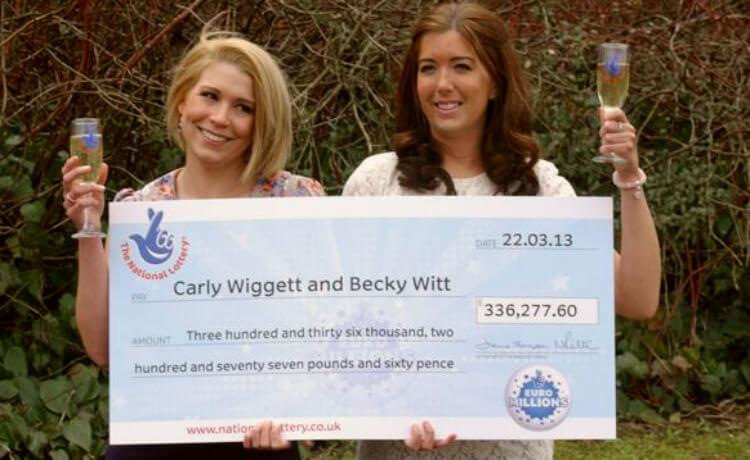 10 увлекательных выигрышей в лотерею. Карли Виггетт и Бекки Витт