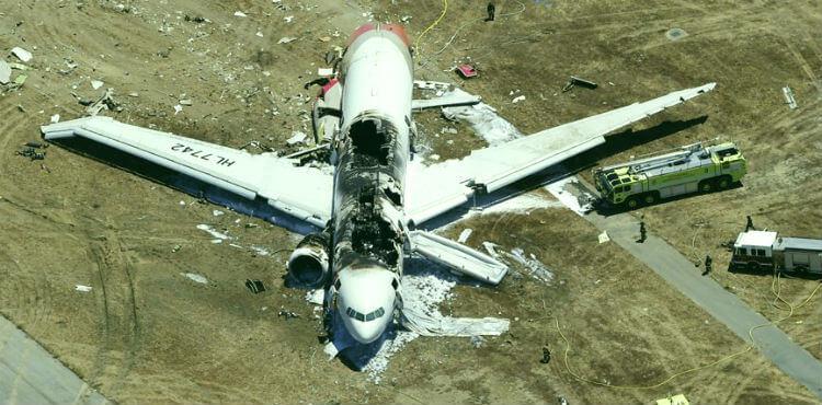 Гибель в результате авиакатастрофы
