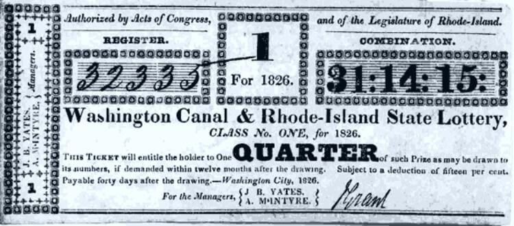 История американских лотерей - 1826 год