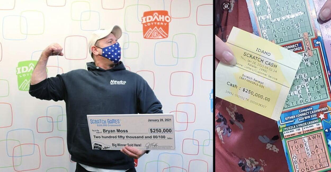 Брайан Мосс с чеком на 250 тысяч долларов