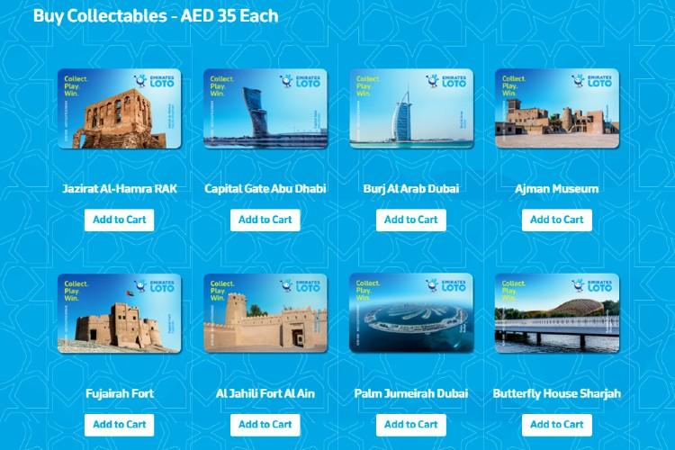 Коллекционные карточки Emirates Loto
