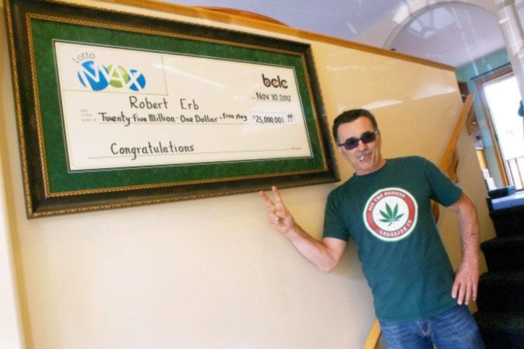 Боб Эрб выиграл 25 миллионов долларов