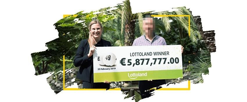 Игрок, выигравший на Lottoland почти 6 миллионов евро в 2019 году