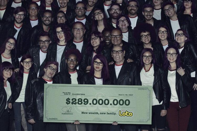 Рекламы лотереи Loto Chile - готический стиль