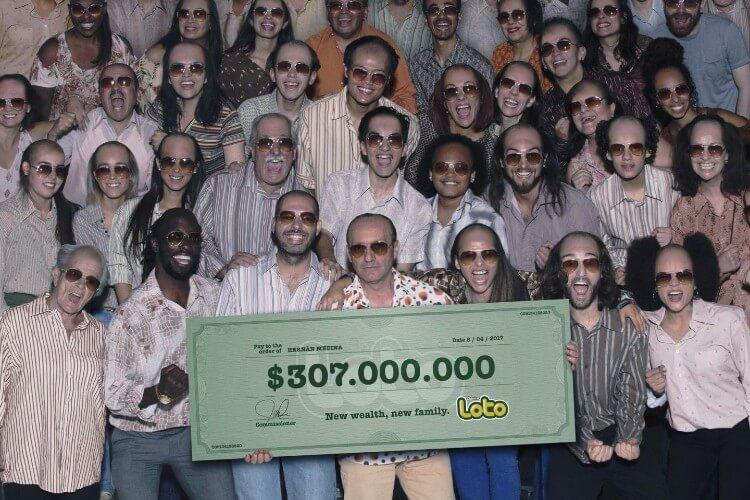 Рекламы лотереи Loto Chile - стиль безработных