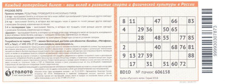 Необычный подарок на НГ или ДР: лотерейный купон!