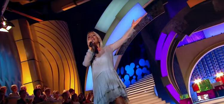Ирина Салтыкова радует зрителей своим выступлением