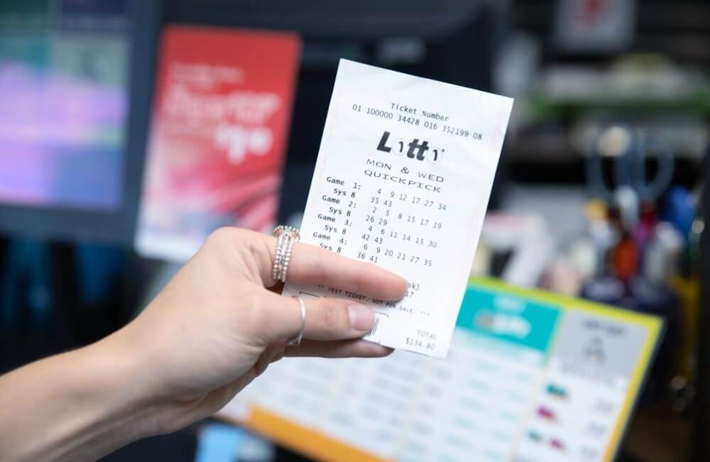 Билет лотереи Monday & Wednesday Lotto