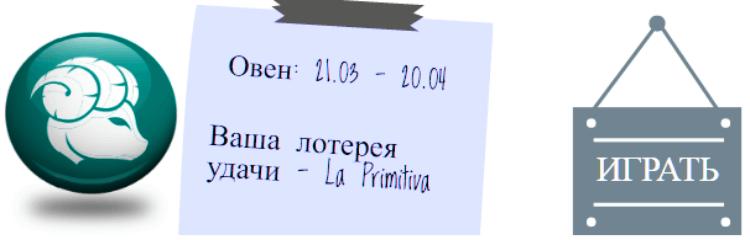 Лотерейный гороскоп. Овен (с 21 марта по 20 апреля)