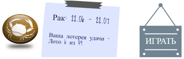 Лотерейный гороскоп. Рак (с 22 июня по 22 июля)