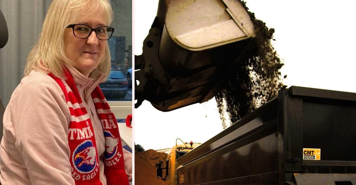Нина Стрёмберг и её приз – 14 тонн щебня