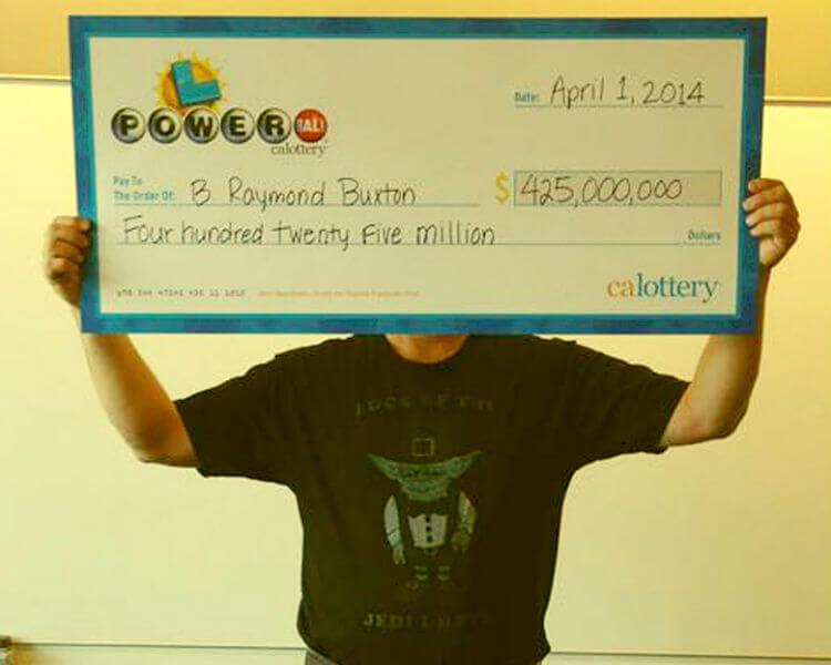 Самые большие выигрыши в лотерею. Рэймонд Бакстон