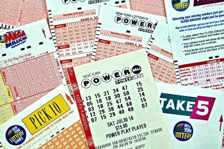 Билеты и купоны лотерей США