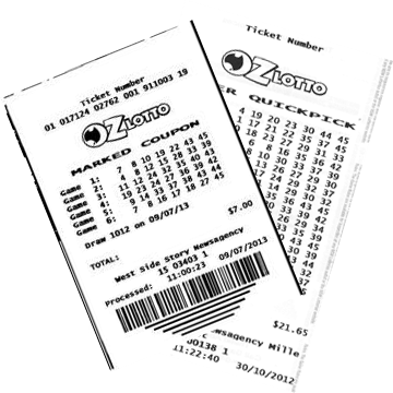 Билет лотереи Oz Lotto