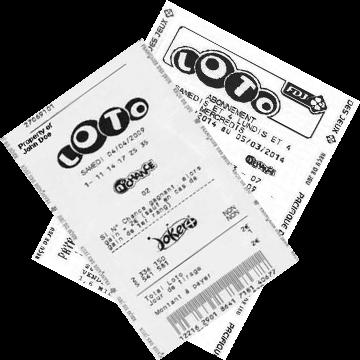Билет лотереи Loto